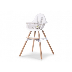 Childhome EVOLU 2 CHAIR NATURAL / VALGE 2 in 1 + BUMPER