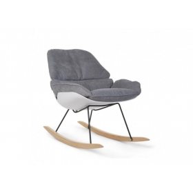 ROCKING LOUNGE CHAIR WHITE + GREY