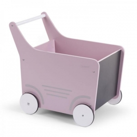 Childhome WOODEN STROLLER SOFT PINK