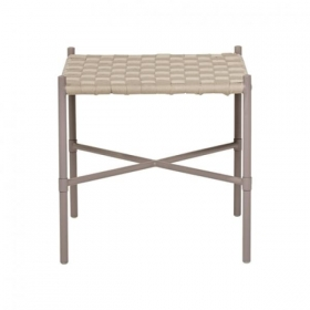 Bloomingville Cross Stool Grey Cotton