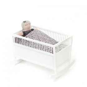 Smallstuff Rosaline Doll Cradle – White