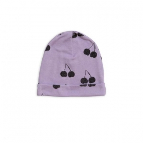 Mini Rodini Cherry Wool Beanie- PURPLE