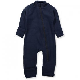 Smallstuff jumpsuit merino wool with zipper navy