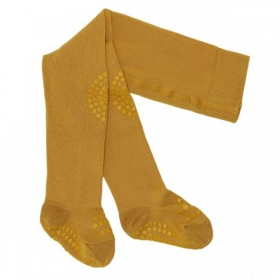 GoBabyGo Crawling Tights - mustard