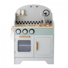 BLOOMINGVILLE Play Set, Kitchen, Grey, MDF