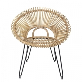 BLOOMINGVILLE Lounge Chair, Nature, Rattan