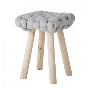BLOOMINGVILLE Nathan Stool, Grey, Polyester