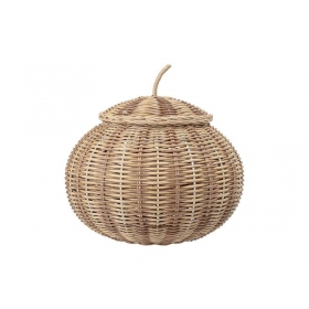 Bloomingville Basket With Lid Nature Rattan