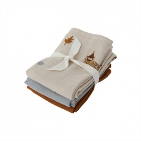 Muslin Square - Leopard - Pack of 3